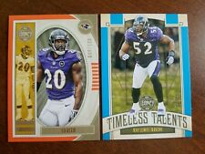 Ray Lewis 2019 Legacy Timeless Talents /25 - Ed Reed /199 Baltimore Ravens