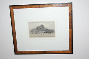 """Antique hand coloured woodblock engraving - """"The Supreme Court of Victoria"""""""