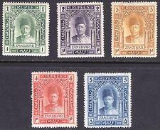 Zanzibar 1908 1r-5r Hamoud SG 234a-238 Scott 108v-112 LMM/MLH Cat £272($337)