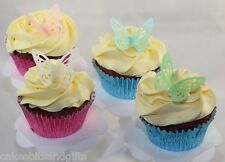 48 Edible BUTTERFLY Rice/Wafer Paper CUPCAKE/CAKE Topper Lace Butterflies