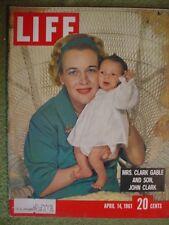 LIFE MAGAZINE APRIL 14 1961 GLEASON CLARK GABLE EICHMANN