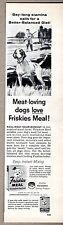 1957 Vintage Ad Friskies Meal Dog Food Hunter & Hunting Dog