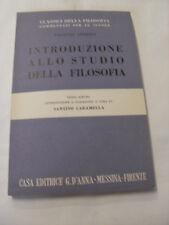 GIOBERTI - INTRODUZIONE ALLO STUDIO DELLA FILOSOFIA - ED.D'ANNA - 1956