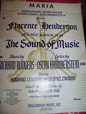 Maria The Sound of Music by Rodgers-Hammerstein 1959