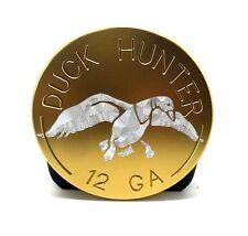 "Duck Hunter, Billet Aluminum Trailer Hitch plug Cover, 4"" Round, Gold"