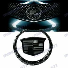 Black Front Grille Ornament Emblem Badge Sticker for Cadillac Escalade SRX CTS