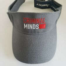 Criminal Minds Gray Visor by Decky Grey Adjustable One Size Fits Most New