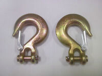 """( 2) 3/8"""" - Grade 70 Clevis Safety Slip Hooks, Forged Alloy FREE SHIPPING in USA"""