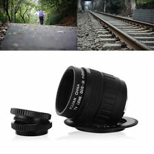 35mm f/1.7 CCTV Cine Lens C Mount for Micro 4/3 Camera E-P3 E-PL3 E-PL5 LF12