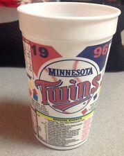 Minnesota Twins 1996 Schedule Cup MLB