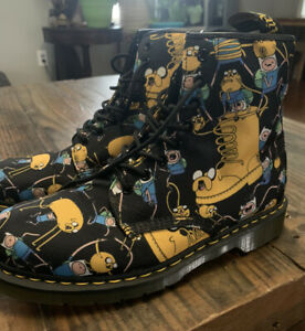 Doc Marten Adventure Time Jake Finn Cartoon Network Boots US Six 11 Black Yellow