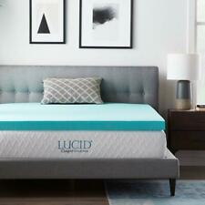 Lucid 3 Inch Gel and Aloe Infused Memory Foam Topper - King