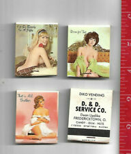 Vintage lot 4 Pin Up match books D & D Diko Vending Fredericktown Ohio
