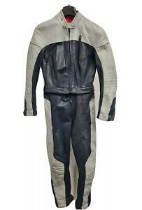 Ladies Vintage BMW Leather Motorcycle Suit Size 10