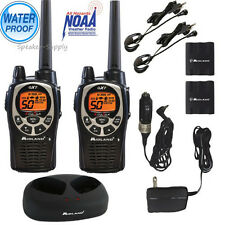Midland Waterproof 36 Mile Two Way Walkie Talkie Radio Set w/ Headset GXT1000VP4