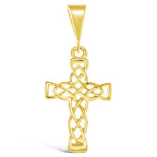 Solid 9ct Gold Celtic Cross with Gift Box