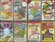 Commodore C64 Games Pack #5 - 8 Commodore C64/C128 Games Pack with Inlays/Cases