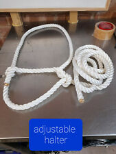 Rope Halter,Head collar  Showing 8ft adjustable, Cow, Sheep, Horse, FREE Postage