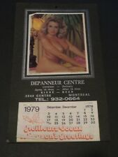 1979 PIN-UP GIRL CALENDAR  PICTURE MONTREAL CANADA BEER STORE LAMP LIGHTER