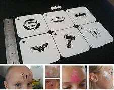 FP SUPERHERO Set of 6pcs Stencils BATMAN SUPERMAN SPIDERMAN WONDER WOMAN THOR