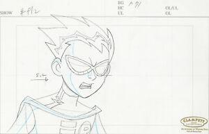 Teen Titans Animated Series Original Production Drawing-Robin