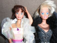 "lot de 2 barbies superstar glitter hair""relookées"""