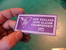 Unused Dash Plaque: NEW ENGLAND AUTO-SLALOM CHAMPIONSHIP 1972
