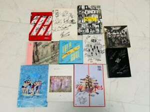 KPOP IDOL BOYS, GIRLS GROUP PROMO ALBUM Autographed ALL MEMBER Signed #210102