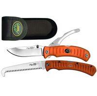 Outdoor Edge Flip N Zip Knife Combo w/ Double Blade Knife & Folding Saw OE-FCB30