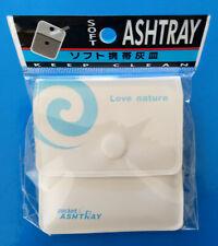 Pocket ashtray / Portable ashtray for tabacco cigarette smoking (White)