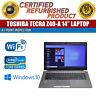 "C Grade Toshiba Tecra Z40-A 14"" Intel i5 8 GB RAM 500 GB HDD Win 10 WiFi Laptop"