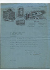 J. E. Linde Paper Co. - signed 1914 letter to Rockland County Times, Haverstraw