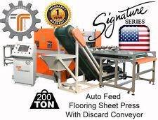 NEW!! CJRTec 200 Ton Auto Feed Flooring Sheet Press with Discard Conveyor