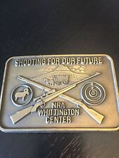 Shooting for our Future NRA Whittington Center Belt Buckle