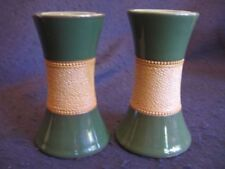 Green Earthenware Date-Lined Ceramic Vases