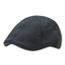 Charcoal Grey Melton Style Ivy Cap Caps Golf Driving Cabbie Hat Hats Small/Med
