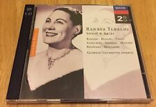 Renata Tebaldi Songs And Arias [IMPORT] by Favaretto (Dec-1996, Decca) Pre Owned