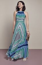 Eliza J Scarf Print Chiffon Maxi Dress (size 6)