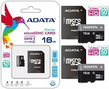 ADATA MicroSDCH 16GB CLASS 10 SDHC 50MB/s HD VIDEO MEMORY CARD FOR LG HTC Lot2