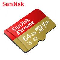 SanDisk Extreme A2 64GB microSDXC Flash Speicherkarte 160MB/s C10 U3 V30 GoPro