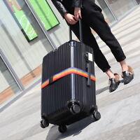 Einstellbar Koffergurt Kofferband Koffergürtel Gepäckgurt Reise Tragegurt 190cm