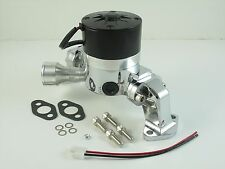 Water Pump Electric CHROME ALUMINUM Small Block Chevy 12v 35 GPM 283 305 350 400