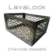 LavaLock Heavy Duty 12 x 10 x 6 Charcoal basket lump wood coal BBQ smoker  LASER