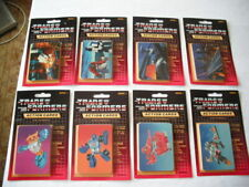 1985 HASBRO TRANSFORMERS SEALED (8) BLISTER CARD PACKS OF TRADING CARDS GROUP C
