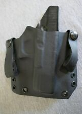"Hard Plastic Gun Duty Holster w Rubber Snap Belt Loops RH 7"" L x 1 1/8"" D"