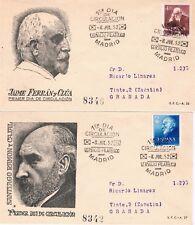 España. Sobres de Primer dia de Dres Cajal y Ferran.- Edifil 1119/20