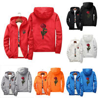 Full Men Windbreaker Coat Fashion Rose Jackets Women Unisex Water/ Zip Windproof