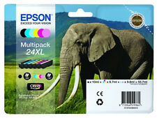 Epson 24XL Claria Photo HD Multipack Elephant T2438 Ink Cartridges C13T24384010