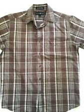 Men's Beverly Hills Polo Club Brown Button Up Size M Medium