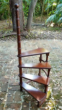 """Early-Mid 20 c English Regency Mahogany Wood Library Stairs ~ 48"""" H"""
